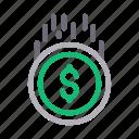 banking, dollar, finance, money, send icon