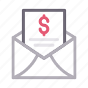 bill, email, invoice, message, receipt