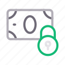 cash, lock, money, pay, secure icon