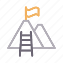 business, career, promotion, stair, success icon