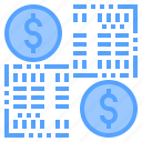accounting, bank, business, corporate, exchange, finance, payment icon