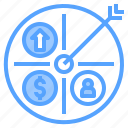 accounting, bank, business, corporate, finance, payment, target icon