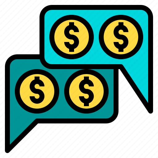 bank, business, corporate, finance, money, payment, talk icon