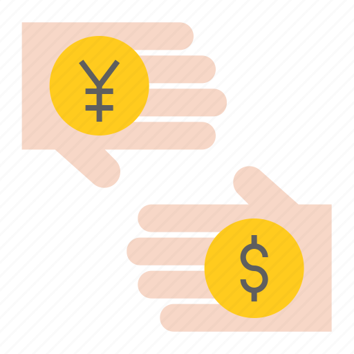 banking, business, currency, currency exchange, finance, hand, money icon
