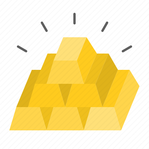 banking, currency, finance, gold, gold bar, money icon
