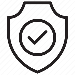 check, protect, security, shield icon
