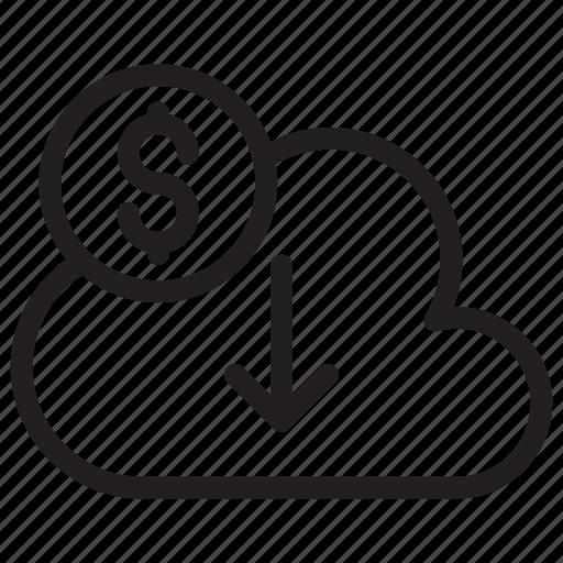 Cloud, download, server, storage icon - Download on Iconfinder