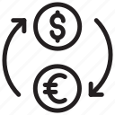 cash, currency, dollar, exchange icon