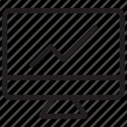 chart, display, graph, growth icon