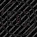 aim, dollar, focus, target icon
