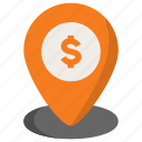 bank, banking, location, pin icon