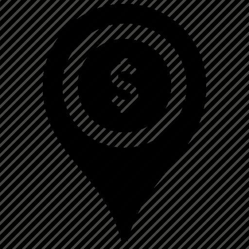 bank, banking, finance, financial, gps, location, pin icon