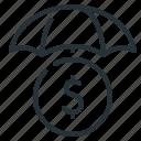 business insurance, coin, money, umbrella, insurance