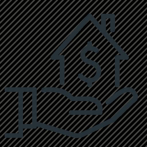hand, home, home loan, loan icon