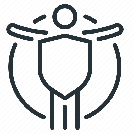 insurance, life, life insurance, man, shield icon