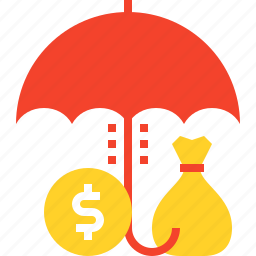 finance, insurance, protection, safety, savings, security, umbrella icon