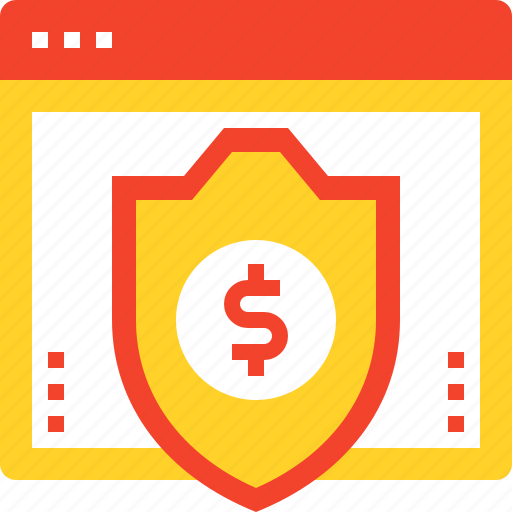 defense, money, online, protection, safety, security, shield icon