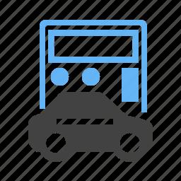 amount, auto, calculation, calculator, car, transport, vehicle icon