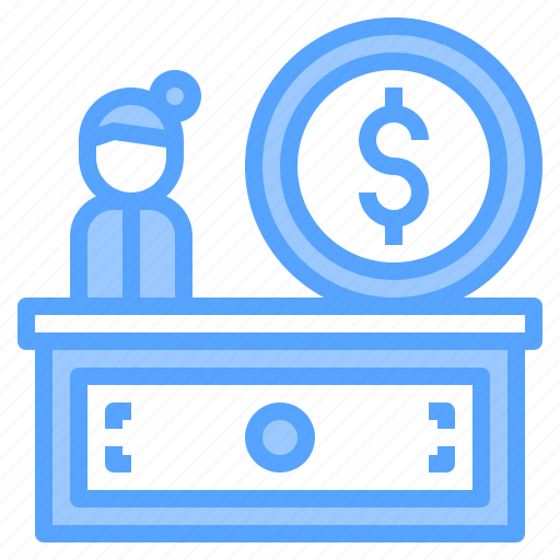 bank, business, counter, finance, money, online, technology icon