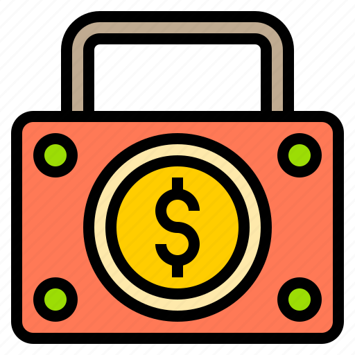 bag, bank, business, finance, money, online, technology icon