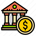 bank, business, dollar, finance, money, online, technology icon