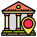bank, business, finance, location, money, online, technology icon