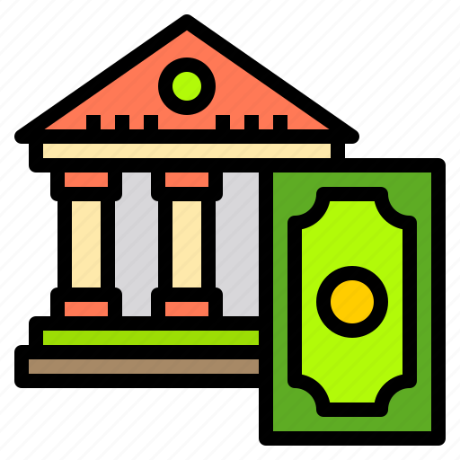 bank, business, finance, money, office, online, technology icon