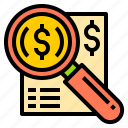 bank, business, finance, money, online, search, technology icon