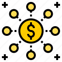 bank, business, finance, money, online, share, technology icon