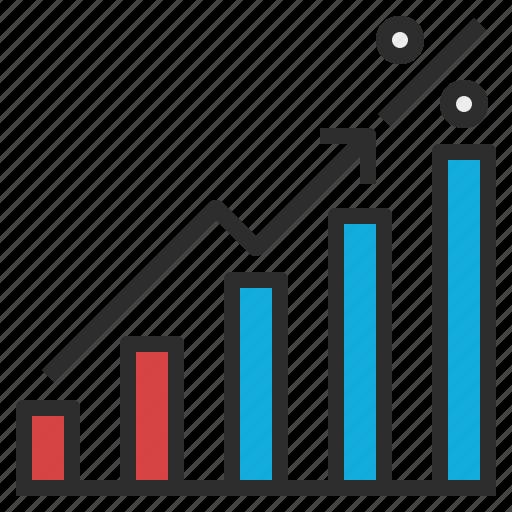 annual, graph, percentage, year icon