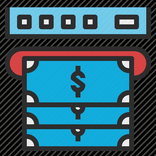 atm, cash, machine, money, withdrawal icon