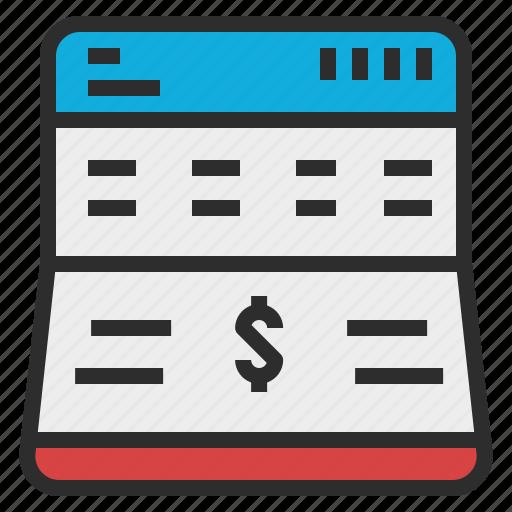 account, bank, deposit, money, passbook icon