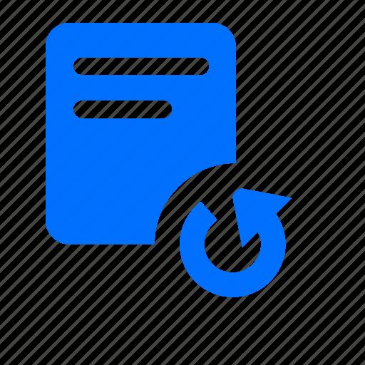arrow, banking, document, reaload, refresh icon