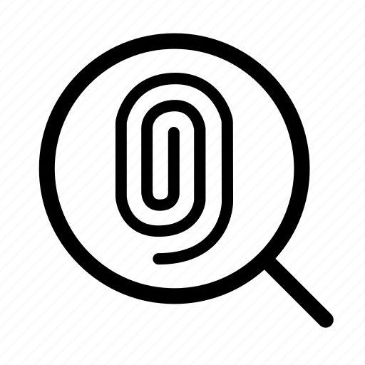 finger, fingerprint, glass, magnify, magnifying, print, verification icon