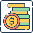 banking, coins, currency, dollar, finance, money