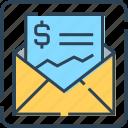 analytics, banking, document, email, envelope, file, letter