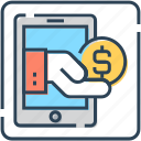banking, banking app, coin, commerce, mobile, online, payment