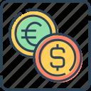 coin, currency, dollar, euro, finance, money