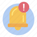 alert, bell notification, push notification, warning icon
