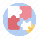 business solution, indoor game, jigsaw, jigsaw puzzle, mind game, puzzle game icon