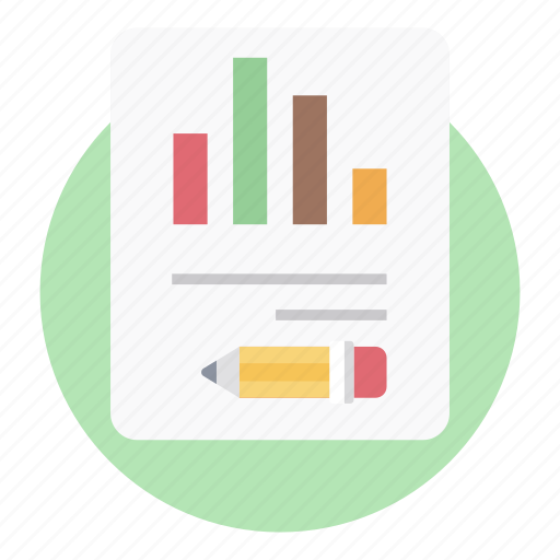 analytics, bar chart, bar graph, business infographic report, business report, statistics icon