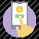 banking app, ebanking, internet banking, mobile banking, mobile transaction, online banking icon