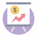 business growth presentation, business presentation, finance chart, statistics, trend analysis icon