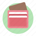 billfold wallet, money purse, money wallet, purse, wallet icon
