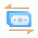 cash, shopping, currency, transfer, payment, money, finance icon