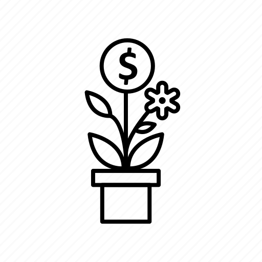 business, growth, investment, plant, tree icon