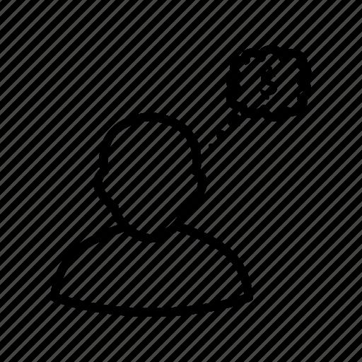 business, idea, thinking icon