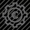 euro, management, money, settings icon