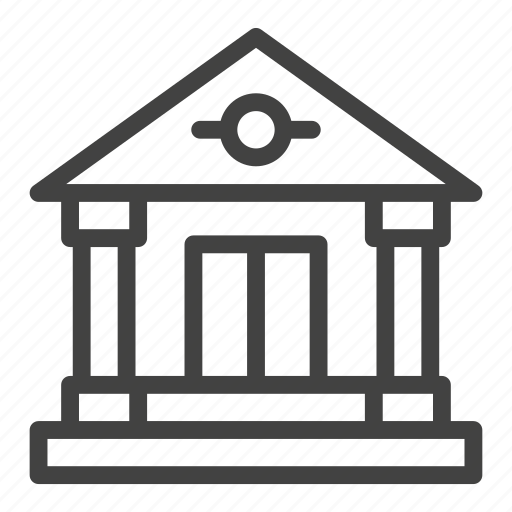 bank, banking, building, office icon