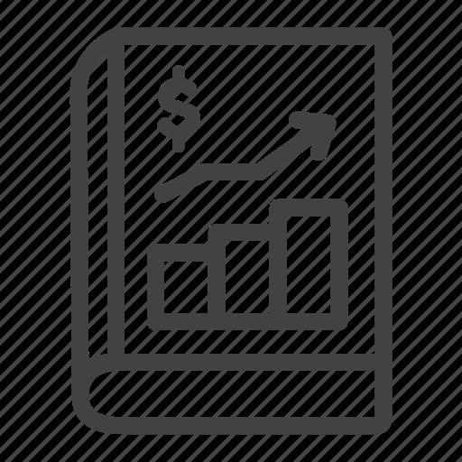 banking, chart, money, report, sheet icon